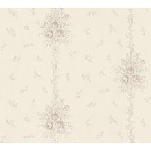 AS Création barocke Mustertapete Château 5 Vliestapete grau metallic 345005 10,05 m x 0,53 m