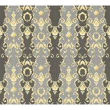 AS Création barocke Mustertapete Château 5 Vliestapete grau metallic schwarz 343926