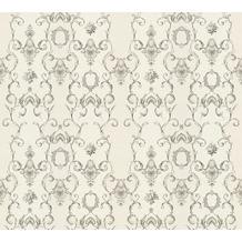 AS Création barocke Mustertapete Château 5 Vliestapete grau metallic weiß 343923 10,05 m x 0,53 m