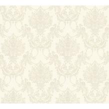 AS Création barocke Mustertapete Château 5 Vliestapete grau metallic weiß 344923 10,05 m x 0,53 m
