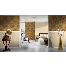 AS Création barocke Mustertapete Hermitage 10 beige braun 10,05 m x 0,53 m