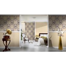 AS Création barocke Mustertapete Hermitage 10 beige braun creme 10,05 m x 0,53 m