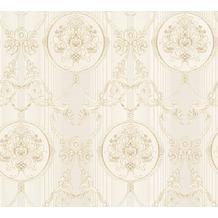 AS Création barocke Mustertapete Hermitage 10 beige creme metallic 330832 10,05 m x 0,53 m