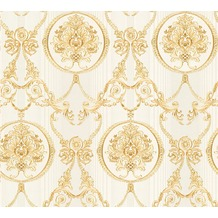AS Création barocke Mustertapete Hermitage 10 beige creme metallic 330834