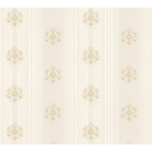 AS Création barocke Mustertapete Hermitage 10 beige creme metallic 330842 10,05 m x 0,53 m