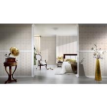 AS Création barocke Mustertapete Hermitage 10 beige creme metallic 10,05 m x 0,53 m