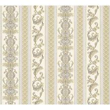 AS Création barocke Mustertapete Hermitage 10 blau creme gelb 335472