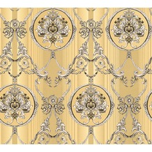 AS Création barocke Mustertapete Hermitage 10 braun creme metallic 330831 10,05 m x 0,53 m