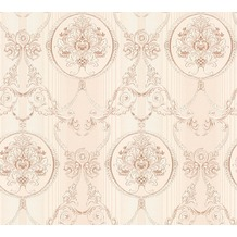 AS Création barocke Mustertapete Hermitage 10 creme metallic rosa 330835 10,05 m x 0,53 m