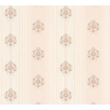 AS Création barocke Mustertapete Hermitage 10 creme metallic rosa 330845 10,05 m x 0,53 m