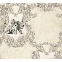 AS Création barocke Mustertapete Hermitage 10 grau schwarz 335431 10,05 m x 0,53 m