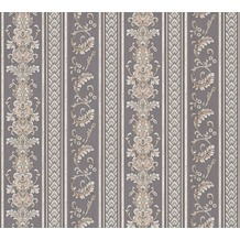 AS Création barocke Mustertapete Hermitage 10 grau schwarz 335475 10,05 m x 0,53 m