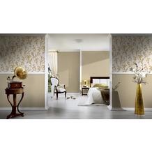 AS Création barocke Mustertapete Kingston Strukturprofiltapete beige creme metallic 10,05 m x 0,53 m