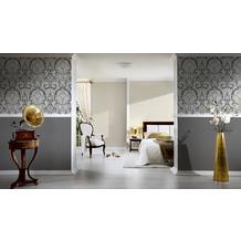 AS Création barocke Mustertapete Kingston Strukturprofiltapete creme grau metallic 327505 10,05 m x 0,53 m