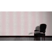 AS Création barocke Mustertapete Reflection Vliestapete Tapete grau metallic lila 10,05 m x 0,53 m
