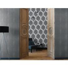 AS Création barocke Mustertapete Soraya Tapete metallic schwarz 10,05 m x 0,53 m