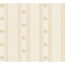 AS Création barocke Mustertapete Streifentapete Hermitage 10 beige creme 335424 10,05 m x 0,53 m