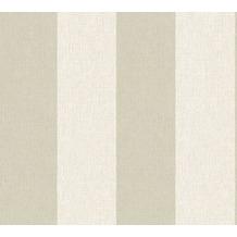 AS Création Blockstreifentapete Borneo Tapete creme grau 327183 10,05 m x 0,53 m