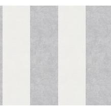 AS Création Blockstreifentapete Memory 3 Vliestapete creme grau weiß 329902 10,05 m x 0,53 m