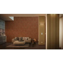 AS Création Bohemian Mustertapete, Tapete, glänzend, klassisch, braun, metallic, rot 10,05 m x 0,53 m