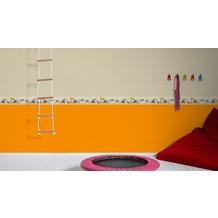 AS Création Bordüre Little Stars Borte PVC-frei beige orange schwarz 5,00 m x 0,13 m