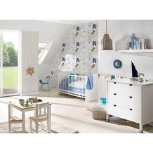AS Création Bordüre Little Stars Borte PVC-frei blau creme weiß 5,00 m x 0,17 m