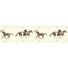 AS Création Bordüre Little Stars Borte PVC-frei bunt creme 358382 5,00 m x 0,13 m
