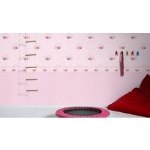 AS Création Bordüre Little Stars Borte PVC-frei bunt metallic rosa 5,00 m x 0,13 m