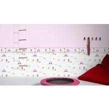 AS Création Bordüre Little Stars Borte PVC-frei bunt weiß 5,00 m x 0,17 m