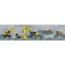 AS Création Bordüre Little Stars Borte PVC-frei gelb grau schwarz 358711 5,00 m x 0,13 m