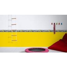 AS Création Bordüre Little Stars Borte PVC-frei gelb grau schwarz 5,00 m x 0,13 m