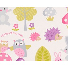 "AS Création Boys & Girls 4 Mustertapete ""Little Nature"" Papiertapete, bunt, weiss 935551 10,05 m x 0,53 m"