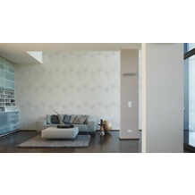 AS Création Unitapete mit Glitter Spot 3 Vliestapete grau metallic 10,05 m x 0,53 m