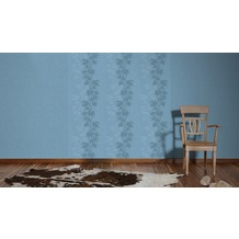 AS Création florale Mustertapete Amory Vliestapete blau 10,05 m x 0,53 m