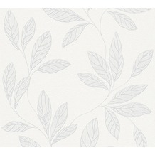 AS Création florale Mustertapete Amory Vliestapete grau weiß 324211 10,05 m x 0,53 m