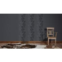 AS Création florale Mustertapete Amory Vliestapete schwarz 10,05 m x 0,53 m