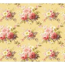 AS Création florale Mustertapete Château 5 Vliestapete bunt gelb 345084 10,05 m x 0,53 m