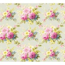 AS Création florale Mustertapete Château 5 Vliestapete bunt grün 345083 10,05 m x 0,53 m