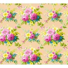 AS Création florale Mustertapete Château 5 Vliestapete bunt metallic 345081
