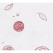 AS Création florale Mustertapete Essentials Vliestapete Tapete creme rot 10,05 m x 0,53 m