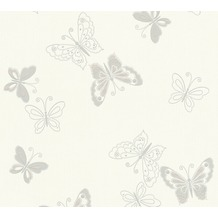 AS Création florale Mustertapete Happy Spring Vliestapete beige grau weiß 347661 10,05 m x 0,53 m