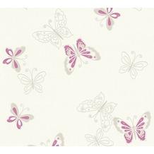 AS Création florale Mustertapete Happy Spring Vliestapete beige metallic lila 347651 10,05 m x 0,53 m