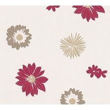 AS Création florale Mustertapete Happy Spring Vliestapete braun creme rot 347703 10,05 m x 0,53 m