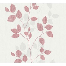 AS Création florale Mustertapete Happy Spring Vliestapete grau rot weiß 347612