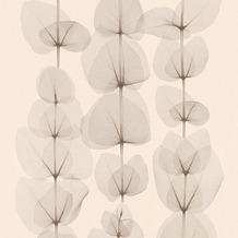 AS Création florale Mustertapete in Röntgen Optik X-Ray Vliestapete beige braun metallic 342451 10,05 m x 0,53 m