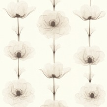 AS Création florale Mustertapete in Röntgen Optik X-Ray Vliestapete braun creme metallic 342732 10,05 m x 0,53 m