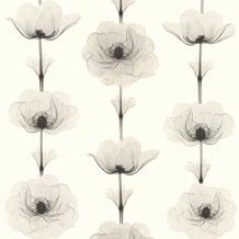 AS Création florale Mustertapete in Röntgen Optik X-Ray Vliestapete creme grau metallic 342734 10,05 m x 0,53 m