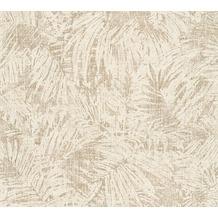 AS Création florale Mustertapete in Vintage Optik Borneo Tapete beige creme metallic 322632