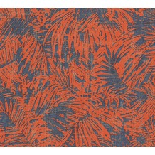 AS Création florale Mustertapete in Vintage Optik Borneo Tapete blau metallic rot 322634 10,05 m x 0,53 m