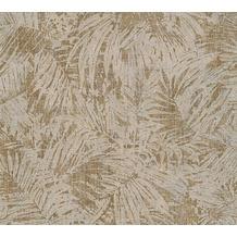 AS Création florale Mustertapete in Vintage Optik Borneo Tapete braun metallic 322633
